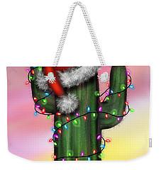 Santa Cactus Weekender Tote Bag