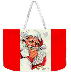 Santa Checking Twice Christmas Image Weekender Tote Bag