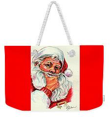 Santa Checking Twice Christmas Image Weekender Tote Bag