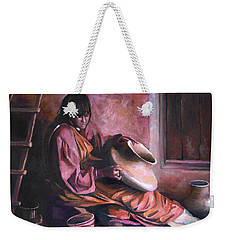 Weekender Tote Bag featuring the painting Santa Clara Potter by Nancy Griswold
