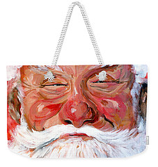Weekender Tote Bag featuring the painting Santa Claus by Tom Roderick