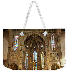 Weekender Tote Bag featuring the photograph Santa Croce Florence Italy by Joan Carroll