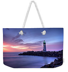 Santa Cruz Harbor Mouth Sunrise Weekender Tote Bag