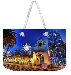 Santa Fe At Night Weekender Tote Bag
