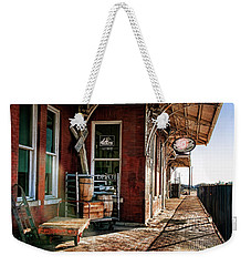 Santa Fe Depot Of Guthrie Weekender Tote Bag by Lana Trussell