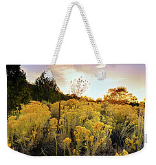 Weekender Tote Bag featuring the photograph Santa Fe Magic by Stephen Anderson