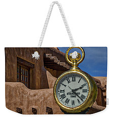 Santa Fe Plaza Clock Weekender Tote Bag