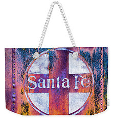 Weekender Tote Bag featuring the photograph Santa Fe Rr by Lou Novick