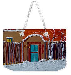 Santa Fe Snowstorm Weekender Tote Bag