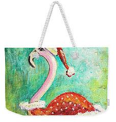 Santa Flamingo Weekender Tote Bag