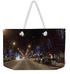 Santa Visits Bradford Weekender Tote Bag by Wade Aiken