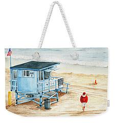 Santa Is On The Beach Weekender Tote Bag