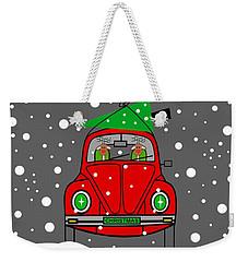 Santa Lane Weekender Tote Bag