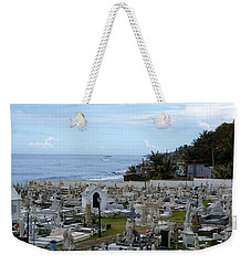 Weekender Tote Bag featuring the photograph Santa Maria Magdalena De Pazzis Cemetery, Old San Juan by Lois Lepisto