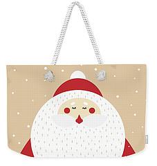Weekender Tote Bag featuring the digital art Santa Merry Christmas 2 by Christopher Meade