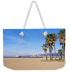 Santa Monica Beach Ca Weekender Tote Bag by Panoramic Images