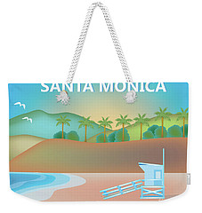 Santa Monica California Horizontal Scene Weekender Tote Bag