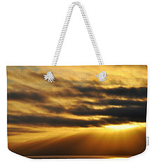 Weekender Tote Bag featuring the photograph Santa Monica Golden Hour by Kyle Hanson