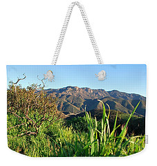 Santa Monica Mountains Green Landscape Weekender Tote Bag