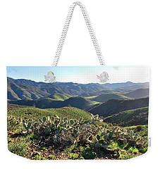 Weekender Tote Bag featuring the photograph Santa Monica Mountains - Hills And Cactus by Matt Harang
