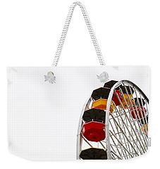 Santa Monica Pier Ferris Wheel- By Linda Woods Weekender Tote Bag by Linda Woods