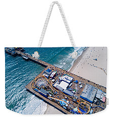 Santa Monica Pier From Above Side Weekender Tote Bag