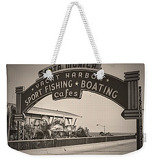 Santa Monica Sign Series Modern Vintage Weekender Tote Bag