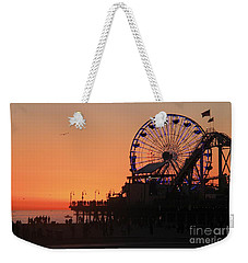 Santa Monica Sunset Weekender Tote Bag by Suzanne Oesterling