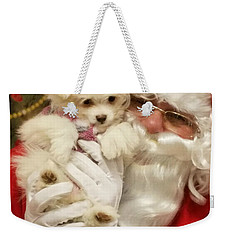 Santa Paws  Weekender Tote Bag by Darren Robinson