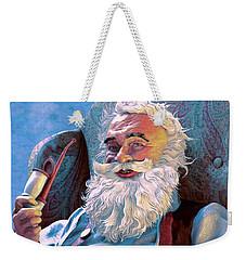 Santa Rests Weekender Tote Bag by Dave Luebbert