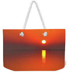 Santa Rosa Sound Sunrise Minimalism Panoramic Weekender Tote Bag