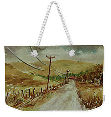Weekender Tote Bag featuring the painting Santa Teresa County Park California Landscape 3 by Xueling Zou