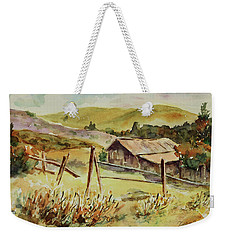 Weekender Tote Bag featuring the painting Santa Teresa County Park California Landscape 4 by Xueling Zou