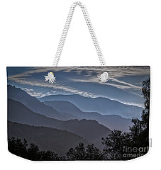 Santa Ynez Mountains Weekender Tote Bag by Mitch Shindelbower