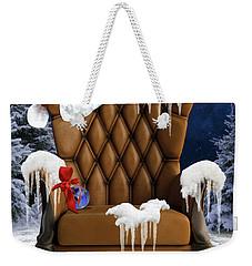 Santa's Chair Weekender Tote Bag by Mihaela Pater