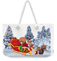 Santa's Little Helper Weekender Tote Bag by Glenn Holbrook