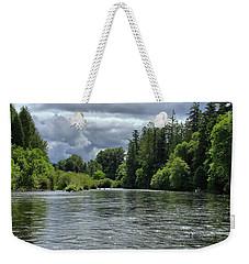 Santiam River Fishing Weekender Tote Bag