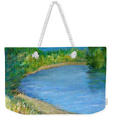 Santiam River - Summer Colorful Original Landscape Weekender Tote Bag