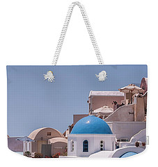 Santorini Church In Oia Weekender Tote Bag