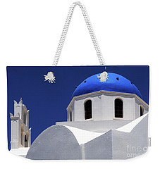 Weekender Tote Bag featuring the photograph Santorini Greece Architectual Line 2 by Bob Christopher