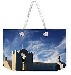 Santorini Greece Architectual Line 3 Weekender Tote Bag by Bob Christopher
