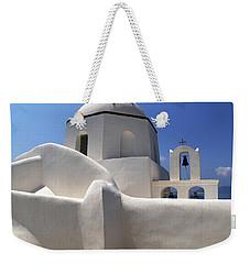 Santorini Greece Architectual Line 4 Weekender Tote Bag by Bob Christopher