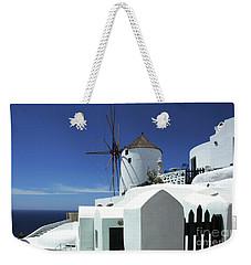 Santorini Greece Architectual Line 5 Weekender Tote Bag by Bob Christopher
