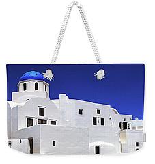 Santorini Greece Architectual Line 6 Weekender Tote Bag by Bob Christopher