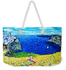 Santorini Honeymoon Weekender Tote Bag by Ana Maria Edulescu