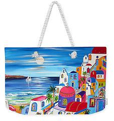 Santorini Moonlight Fantasy  Weekender Tote Bag