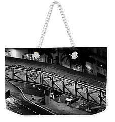 Sao Paulo - Metallic Footbridge At Night Weekender Tote Bag