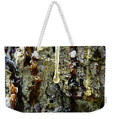Weekender Tote Bag featuring the photograph Sap Drip by Robert Knight