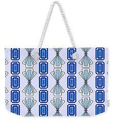 Sapphire Deco Stripe Weekender Tote Bag by MM Anderson