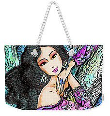Sapphire Forest Weekender Tote Bag